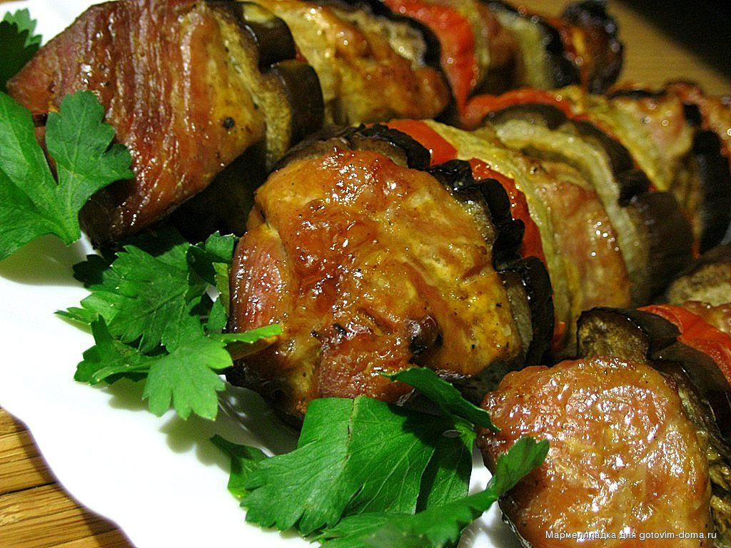 Рецепт баклажаны и мясом